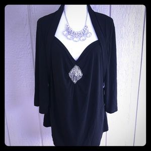 SIMPLY FRENCH Vintage Style Top w/built-in Bolero